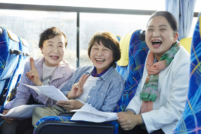 高齢者のバス旅行