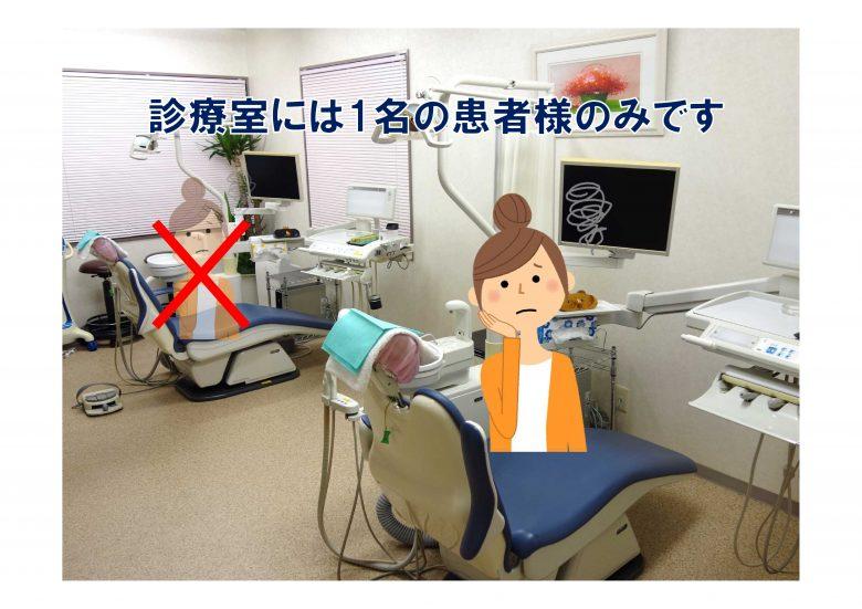 西辻歯科医院感染予防対策(診療室)